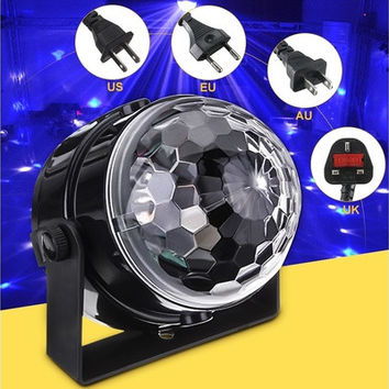 Mini RGB LED Party Disco Club DJ Light Crystal Magic Ball Effect Stage Lighting Disco Lighting [7983299015]