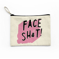 Face Shit Make Up Bag Canvas Pouch