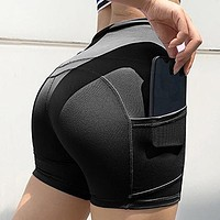 Sexy Women's Sportswear Gym Sports Wear For Fitness Leggings High Waist Yoga Shorts Solid Yoga Pants With Pockets Leggins