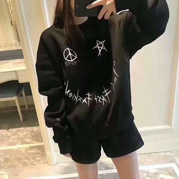 VXL8HQ SNFK Fashion Long Sleeve Hooded Print Casual Sweater G-A-GHSY-1