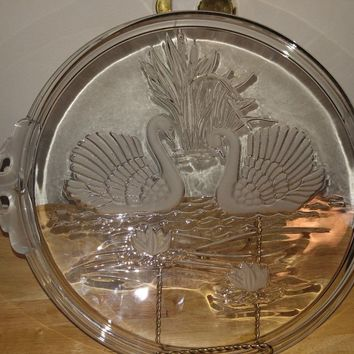 Crystal Swan Serving Platter (15 inch) Walther Mikasa