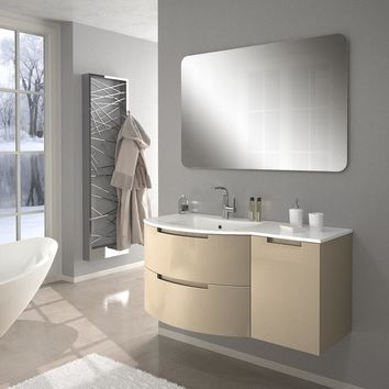 Oasis 43 in. Right Cabinet Set Bath Furniture - Wall Mounted Bathroom Vanity