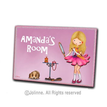 Children housewares room decor door hanger , personalized name sign , nursery welcome plaque