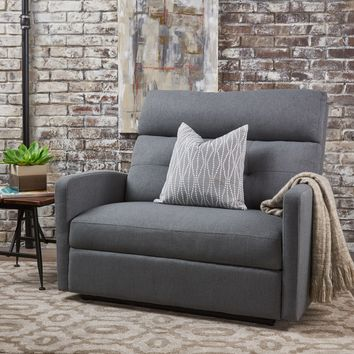 Hana Plush Cushion Tufted Back Loveseat Recliner