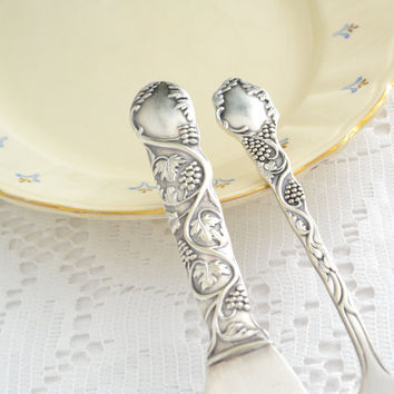 Cake set knife and fork  vintage Swedish wedding cake cutter