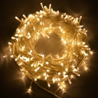 Proxima Direct® 100/200/300 LEDs 12M/22M/32M String Fairy Lights for Christmas Tree Party Wedding Events (8 Operation Modes) - (Warm White, 100 LEDs)