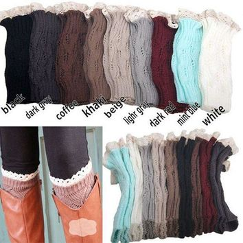 ac ICIK83Q Hot Deal On Sale Socks Ladies Lovely Hollow Out Leaf Lace Knit Boots [110448181273]