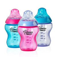 Tommee Tippee Closer to Nature Colour My World Feeding Bottles, Girl, 9 Ounce, 3 Pack