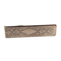Vintage Tie Clip, Textured Gold Tone, Mid Century 1960s 60s, Mens Formal Spring Jewelry, Hipster Jewelry, Mens Vintage Jewelry