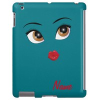"""Flirty Girl"" MONOGRAM IPAD 2/3/4 CASE"