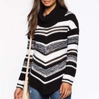 Geo Cowl Neck Pullover
