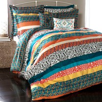 Lush Decor Boho Stripe 7-pc. Reversible Comforter Set (Orange)