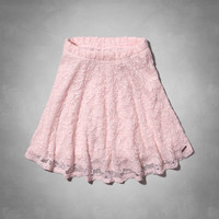 Natural Waist Lace Skater Skirt