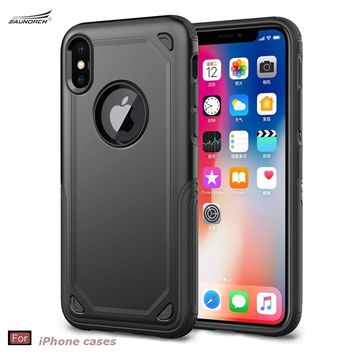 For iPhone 6 6S 7 8 Plus Armor Case Back Spigenes Shell Air Cushion Secure Grip Drop Protection for Apple iPhone X Cases Cover