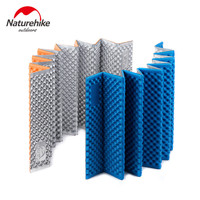 NatureHike Aluminum Film IXPE+EVA Ultralight Outdoor Picnic mat Moistureproof Camping Mattress pad Folding Egg Slot Yoga mat