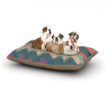 "Nika Martinez ""Ikat Chevron"" Multicolor Dog Bed"