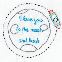 Baby Boy Nursery Decor - I Love You to the Moon & Back Quote -Nursery Art - Guess How Much I love You Book - Gift - Shower Gift