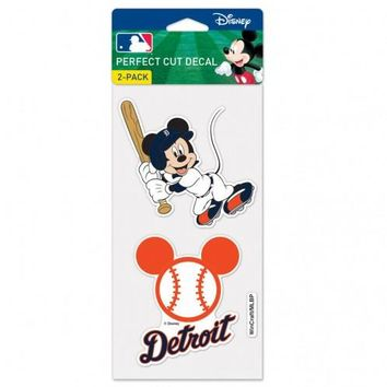 MLB Detroit Tigers Mickey Mouse 2 Pack Decal Set