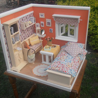 Handmade Doll House Diorama 1:6 Pullip, Blythe, Momoko, Monster High, Barbie etc