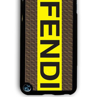 IPod 5 Case - Hard (PC) Cover with fendi logo Plastic Case Design