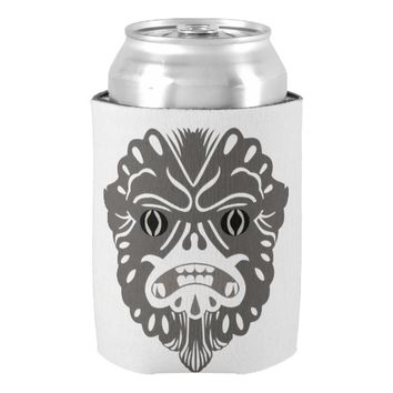 Gorilla Tribal Mask Custom Can Cooler