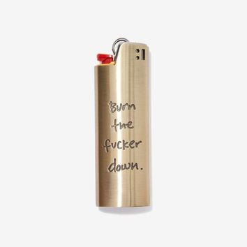 Good Worth Burn It Lighter Case