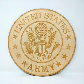 United States Army Emblem - Laser Cut and Engraved Sign