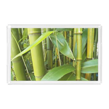 Asian Bamboo Plants Photo Serving Tray