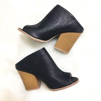 Slide In Bootie Heel In Black