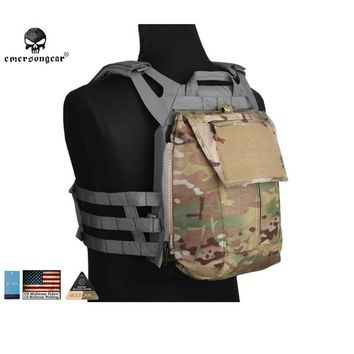 Emersongear Pouch Zip ON Panel FOR AVS JPC2.0 CPC vest Emerson Tactical Backpack Airsoft Combat Gear EM8348 Multicam Coyote bag