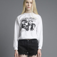Fashion Fiends Sweatshirt in White