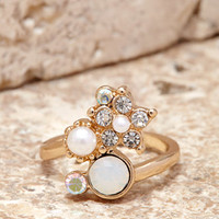 Faux Stone Finger Nail Ring