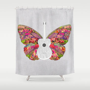 No Strings Attached Shower Curtain by Bianca Green