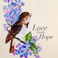 11x16 Canvas Wall Art- Wings of Love- Hand Painted by Lindar Grace