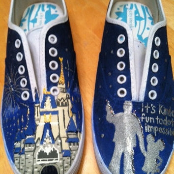 Walt Disney World Cinderella's Castle Painted Shoes