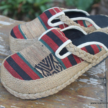 Vegan Womens Clogs  in Tribal Naga Slip On Slide Shoes