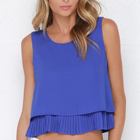 Lost in the Lights Royal Blue Top