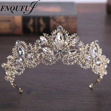 CREYONJ wedding crown headband Tiaras for Women flower bride crystal tiaras crowns king Wedding Hair Accessories Fashion jewelry
