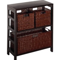 Leo 4pc Shelf with Two Large Compartments by Winsome Woods