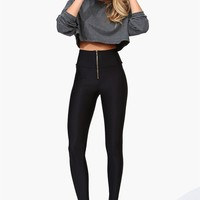 Nylon High Waist Legging - Black