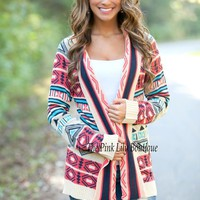 Celebrate Good Times Aztec Cardigan