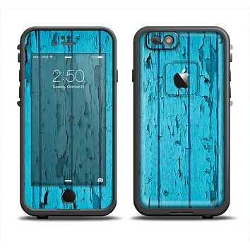 The Blue Aged Wood Panel Apple iPhone 6 LifeProof Fre Case Skin Set