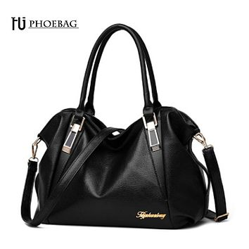 HJPHOEBAG Women fashion leisure Hobos shoulder bag lady  leather messenger bags luxury leather handbag bolsas Z-32