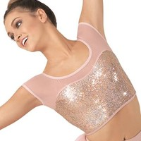 Hologram Sequin Mesh Cropped Top | Balera™