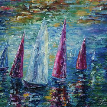 Sails To-night - Art Print