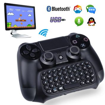 Wireless Bluetooth mini keyboard video game gamepad For Sony playstation 4 ps4 controller gamepad keyboard drop shipping