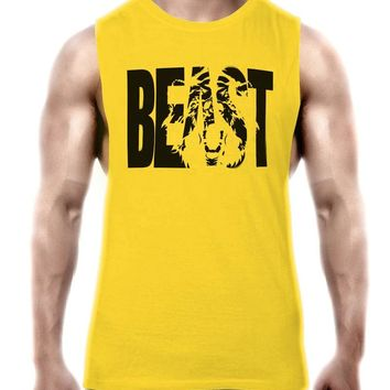 Maxmessy Workout Tank Tops Low Cut Armholes Vest Fitted Tank Men Gym Fitness Tees Muscle Run Activewear Sports T Shirts MC095