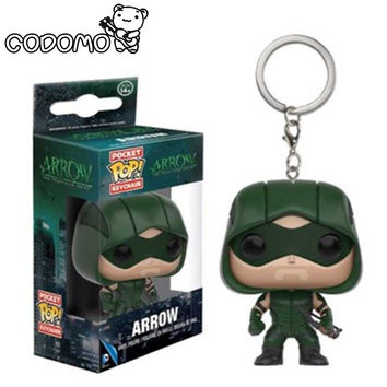 Marvel Funko Pop Arrow game of throns Jon Snow targaryen keychain 2016 New pop walking dead Deadpool Harry Potter key chain