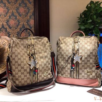 HCXX 19Oct 087 Gucci Classic Fashion Handle Knit Strap Backpack 26-32