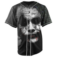 The Joker Batman Black Button Up Baseball Jersey